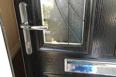 Close up front door